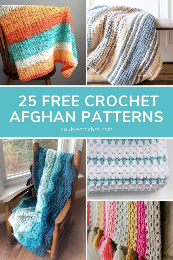 If you're a beginner who's just learning how to crochet, crochet afghan patterns are a great choice for an easy crochet project to start on.