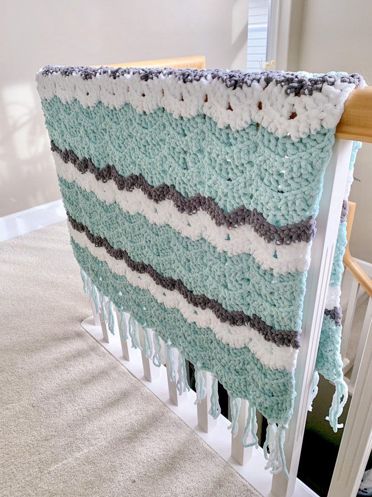 Easy Weekend Chevron Crochet Blanket Pattern Double Crochet