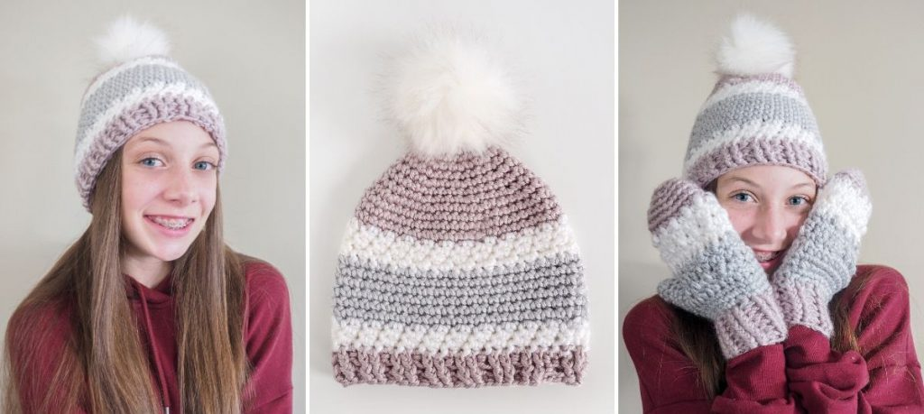 The Winter Warmth Crochet Beanie Pattern will keep you toasty and cozy. This easy crochet hat patterns uses a simple crochet technique for added texture.