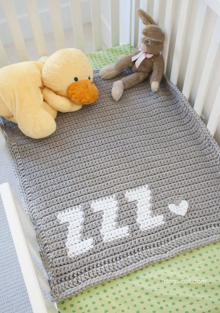 If you're looking for a beautiful baby afghan for an upcoming shower gift this zzz's blanket pattern is perfect.