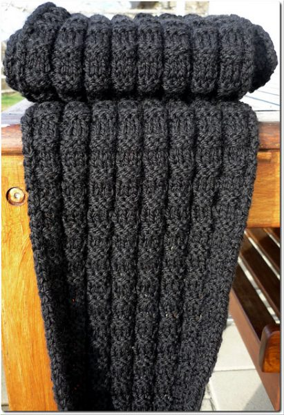 The stitch pattern is very simple but has enough variation to make it an enjoyable knit.