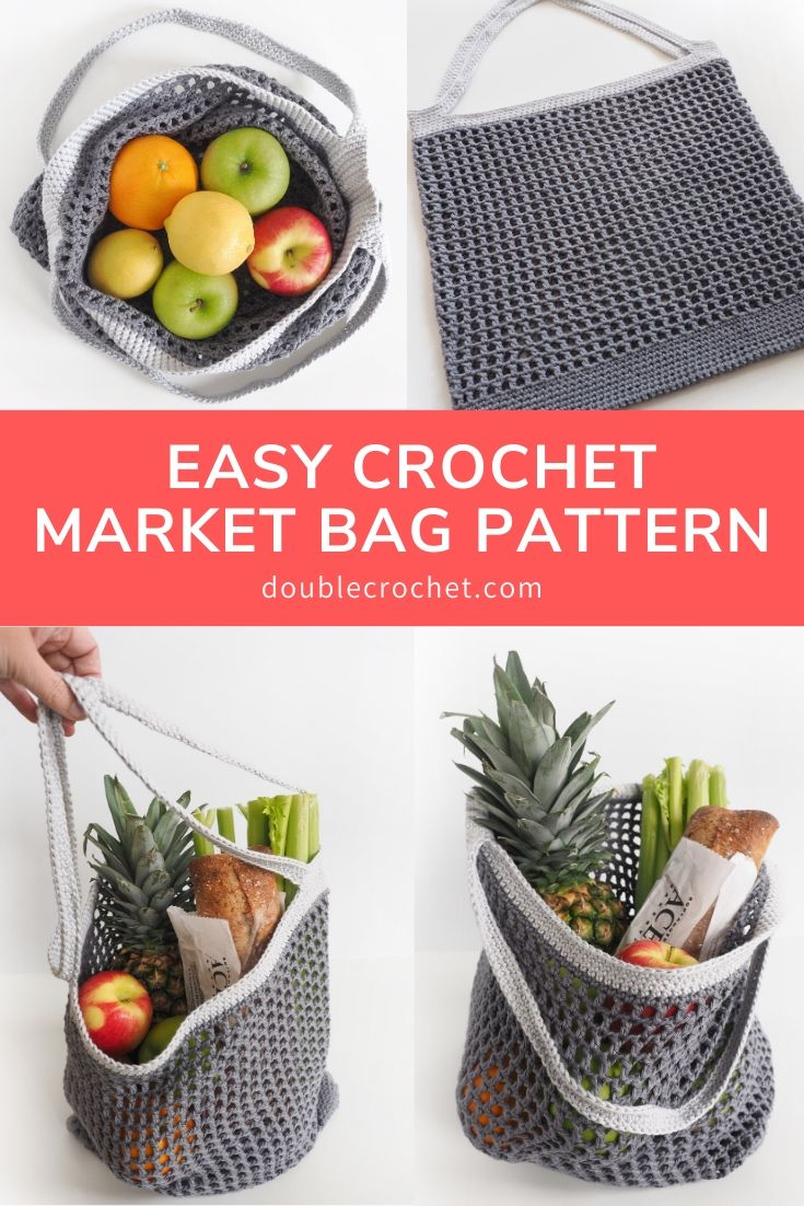 This crochet bag pattern is easy to make and perfect for grocery shopping. Pop it in your purse and use it when you've got your favorite veggies.