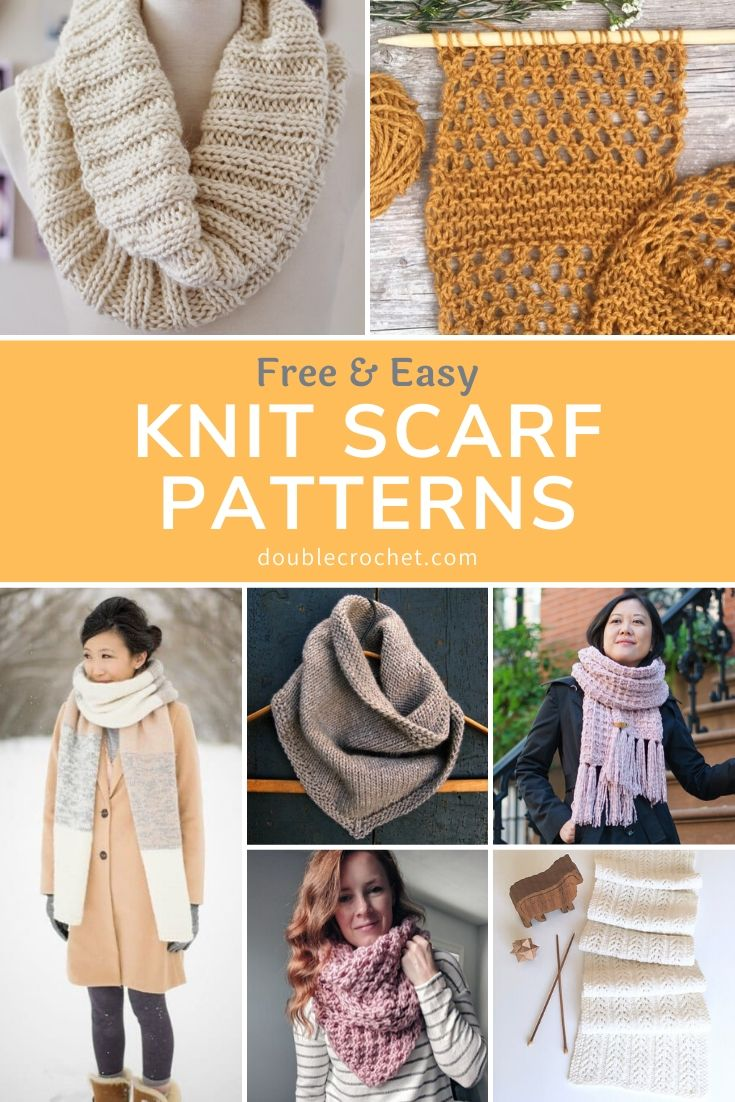 Easy Scarf Knitting Patterns - Double Crochet